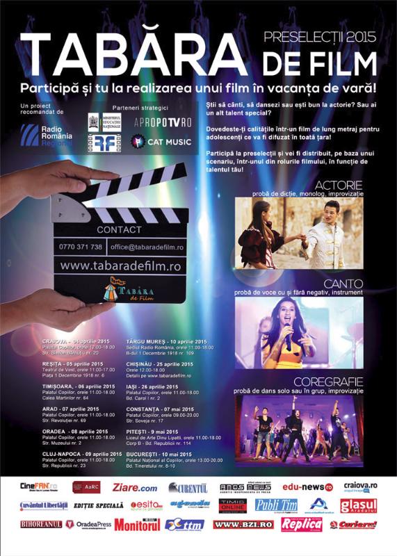 Poster preselectii Tabara de Film 2015