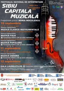 Afis Sibiu Capitala muzicala 2015