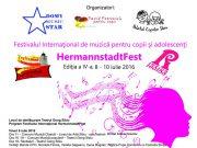 Afişul festivalului HERMANNSTADTFEST 2016 (copyright promo festival Hermannstadtfest 2016)
