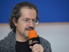 Compozitorul George Natsis la Radio Romania (foto by Radio Romania)