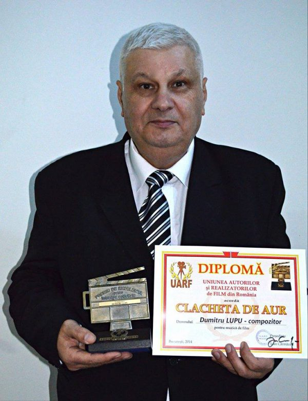 Dumitru Lupu - Clacheta de Aur ptr. muzica de film - Gala Premiilor UARF 2014