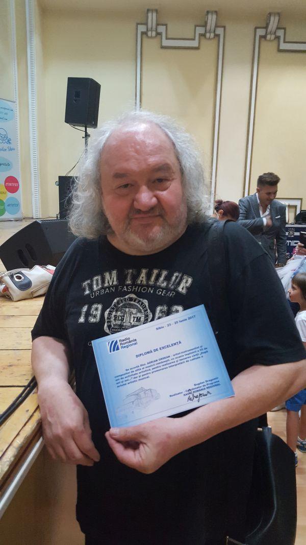 Adrian Ordean - Diploma de Excelenta Radio Romania Regional 2017.600 (foto Bogdan Dragomir)
