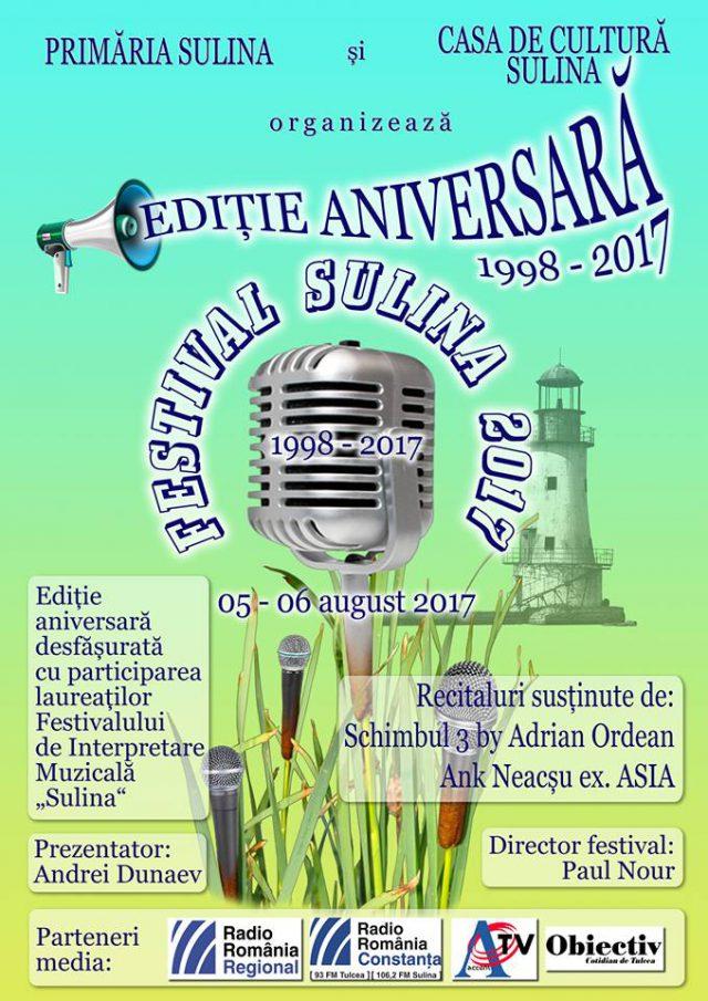 Poster Sulina 2017 (foto by Florentina Dunaev-Facebook)
