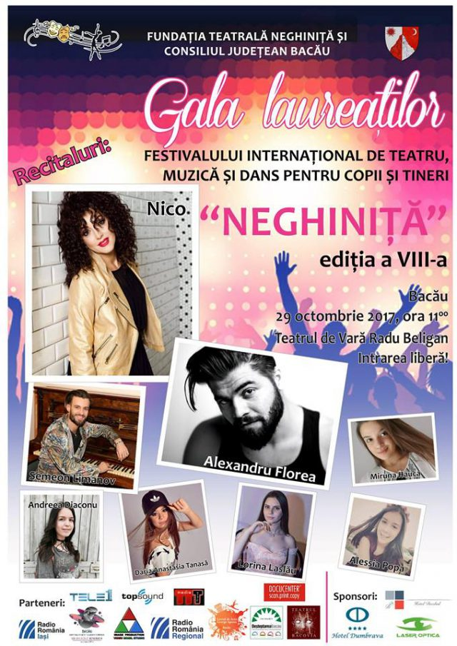 Afis recitaluri Festival Neghinita - Bacau 2017 (arh. festiv.Neghinita.Facebook.com)
