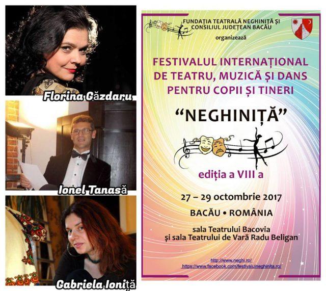 Juriul sectiunii Teatru - Festiv.Neghinita - Bacau 2017 (foto arh.festiv.Neghinita - Bacau 2017.facebook.com)