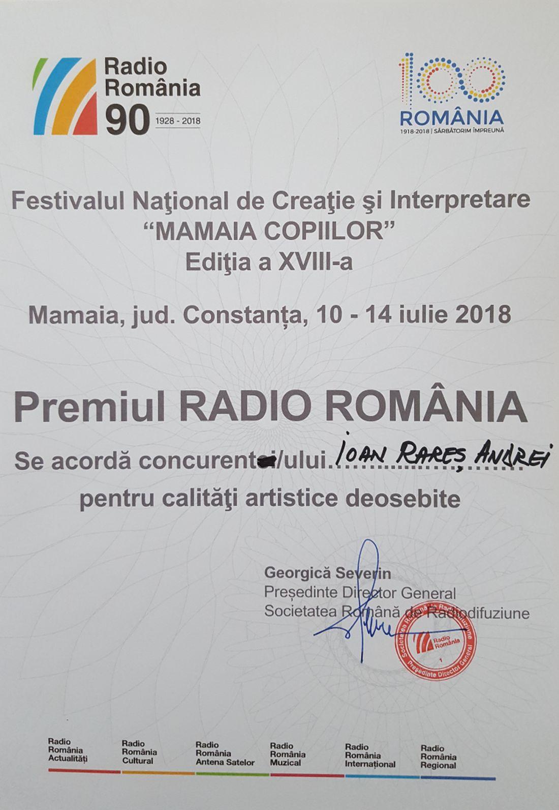 20180714_154857.Premiul Radio Romania.Interpretare Mamaia Copiilor 2018.Ioan Rares Andrei (foto by Bogdan Dragomir)