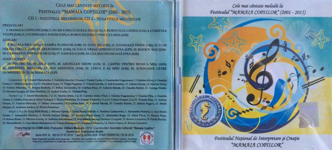 IMG_0210 foto cover by Bogdan Dragomir.2CD Cele mai cantate melodii la Festiv. Mamaia Copiilor (2001-2015)