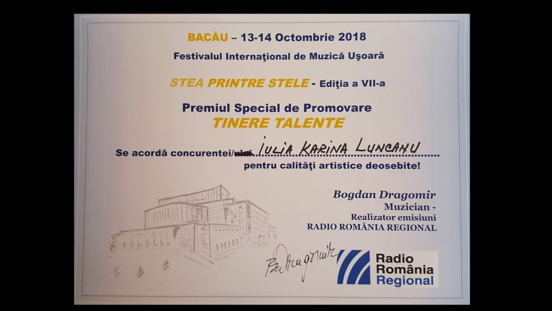 20181013_162922 Diploma Tinere Talente Karina Luncanu.1100 (foto Bogdan Dragomir)