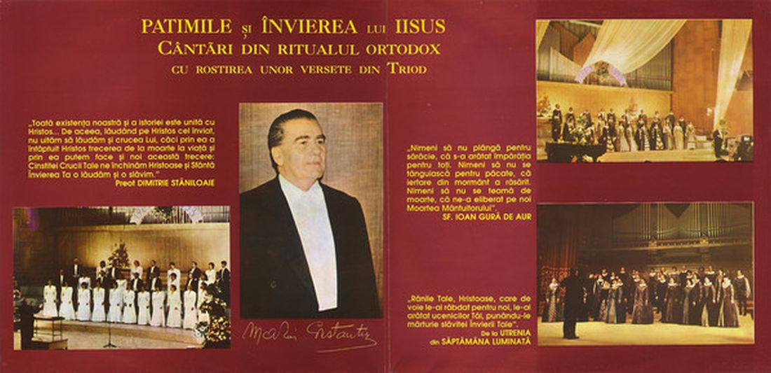 Foto 1.Booklet CD Patimile si invierea lui Iisus - Madrigal.Electrecord (foto si prel.1100 B.Dragomir)