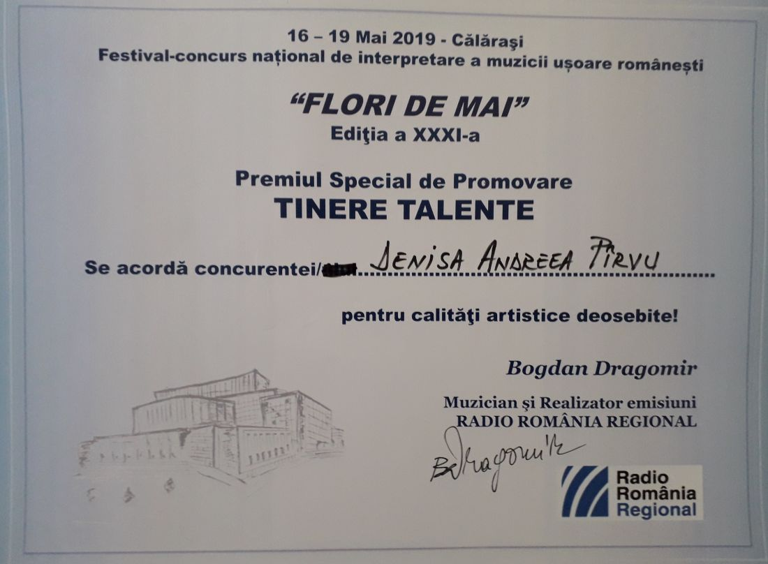 20190519_093646 Diploma Tinere Talente la Festiv. Flori de Mai 2019.1100 (foto by Bogdan Dragomir)